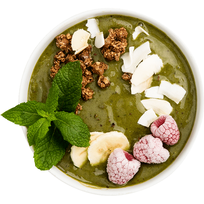 Mint Cacao Chip smoothie